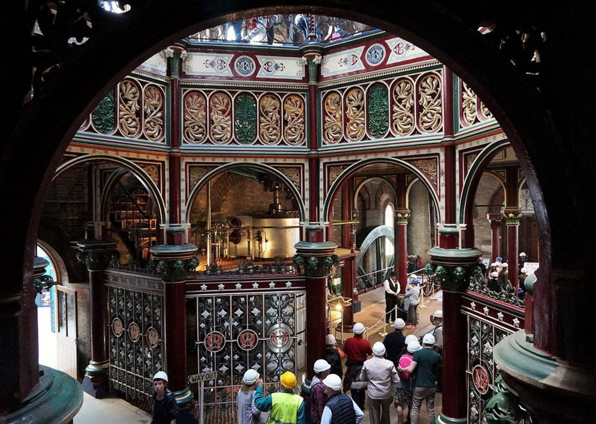 Crossness pumping station in East London by Driver is a virtuoso use of his trademark ironwork