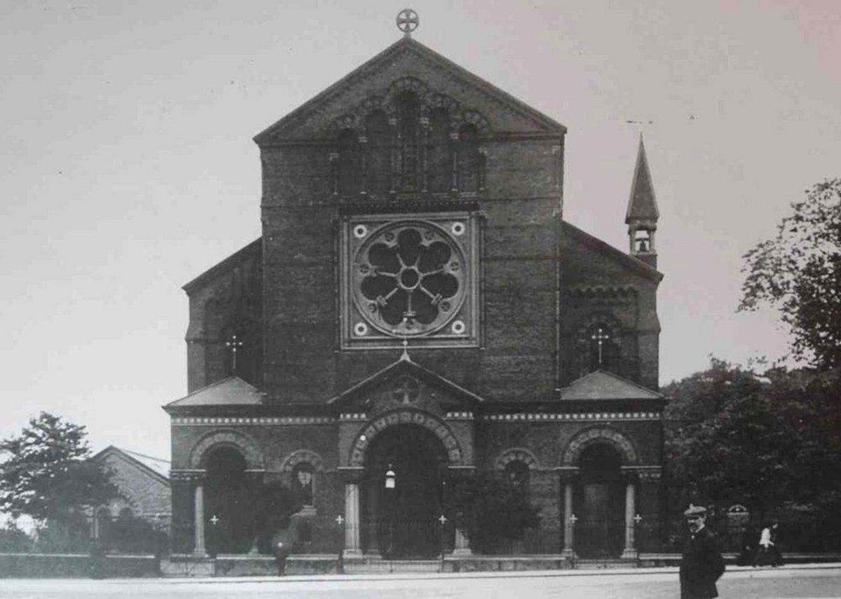 Rare photo of how the church looked when intact.