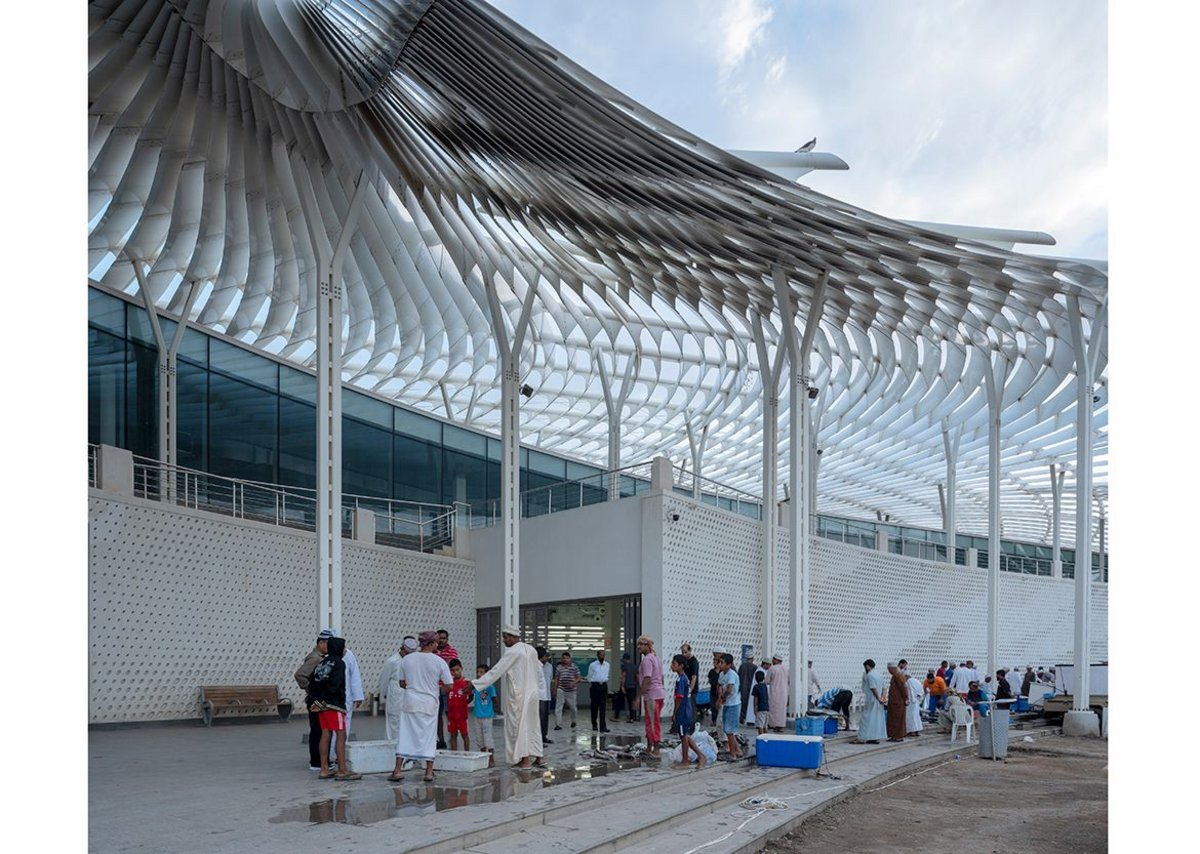 Muttrah Fish Market, Muscat, Oman, designed by Snøhetta.