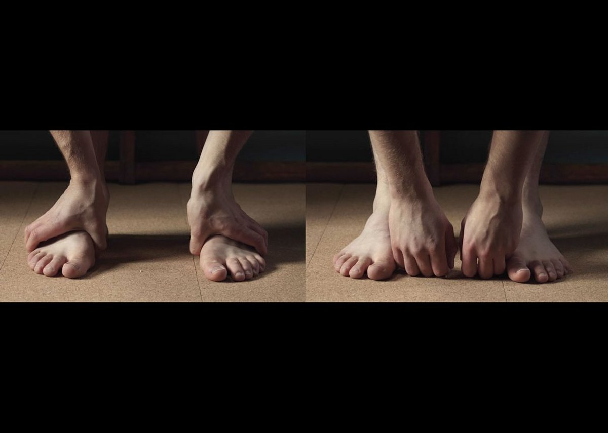 Still from Correspondence O, Ilona Sagar, 2017 at the South London Gallery. The moving image installation explores issues of health, well-being, responsibility and agency.