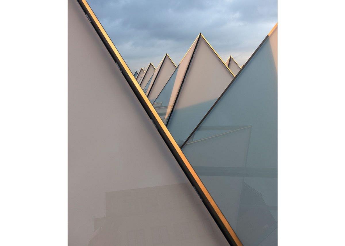 Hayward Gallery pyramid rooflights.