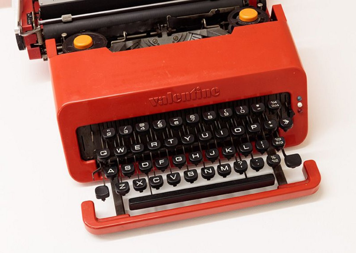 Valentine typewriter, designed in 1969 by Ettore Sottsass.