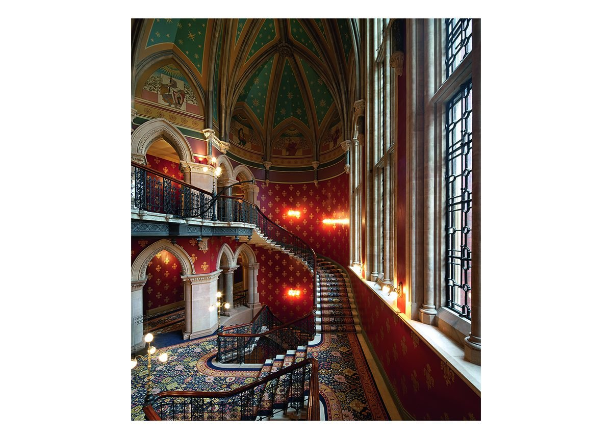 Sir George Gilbert Scott's restored staircase at St. Pancras.