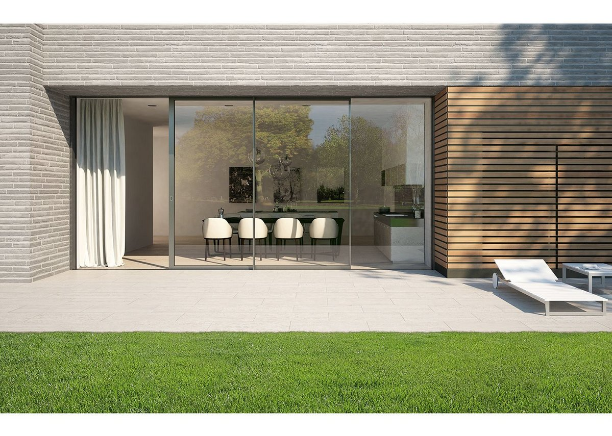 The new triple-glazed sliding doors from Schueco offer enhanced thermal performance.