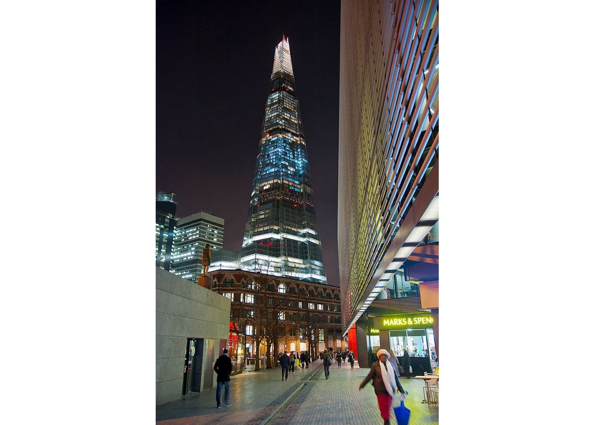 The Shard, just over 300m, is the tallest London can go.
