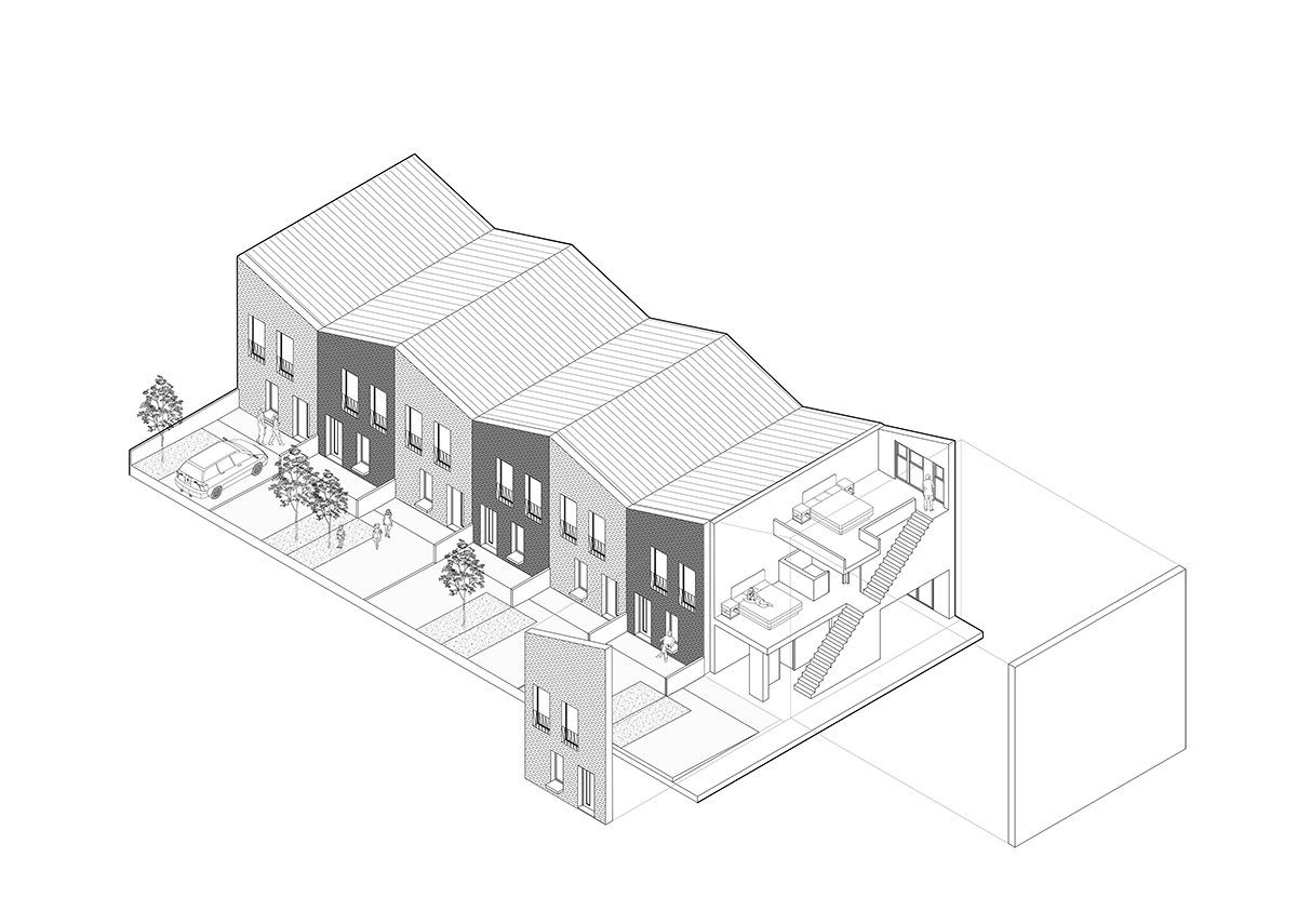 Maryhill Locks 'private affordable' housing: The roof spaces allow for future habitation.