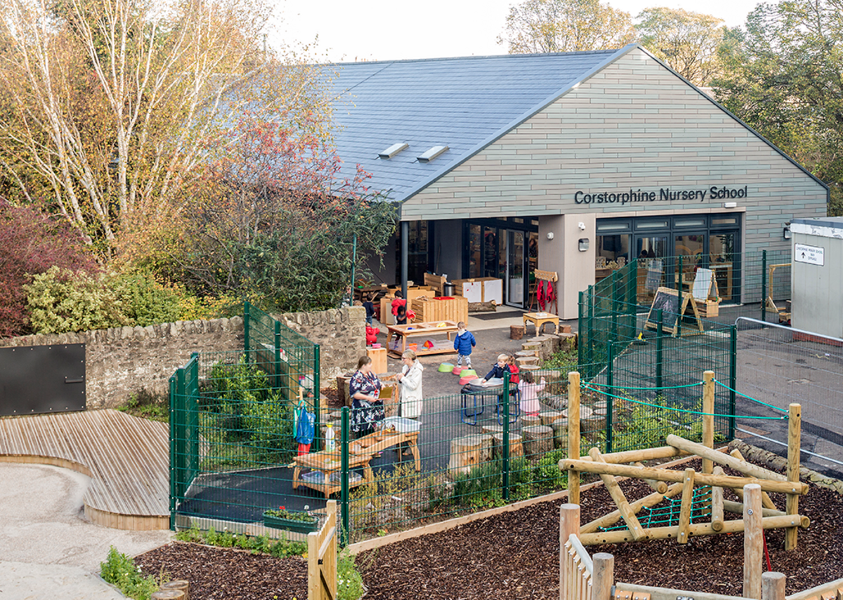 Corstorphine Nursery outdoor learning space.