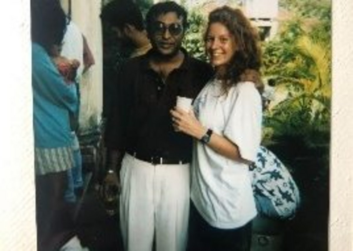 Kate Cheyne working in Sri Lanka after graduating Part 2 at the Bartlett in 1996.
