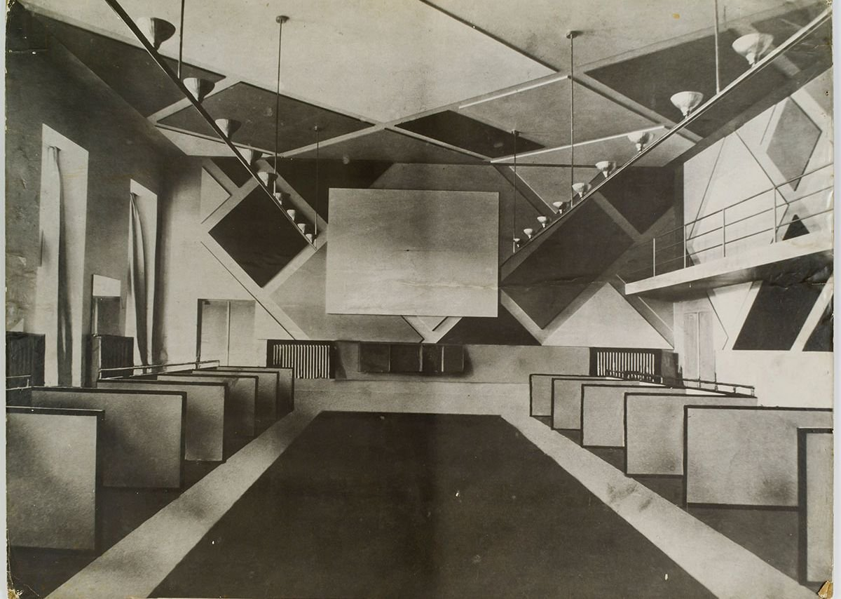 Theo van Doesburg, The Ciné-bal (cinema-ballroom) at Café L'Aubette, Strasbourg, designed by Theo van Doesburg, 1926-28. Image Collection Het Nieuwe Instituut, donation Van Moorsel, archive (code): DOES, inv.nr AB5252
