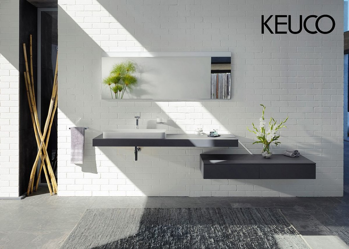 The bathroom fitting 'Edition 400' conceived by the design agency Tesseraux + Partner in Potsdam, is a sensuous element in KEUCO's full range of bathroom furnishings.