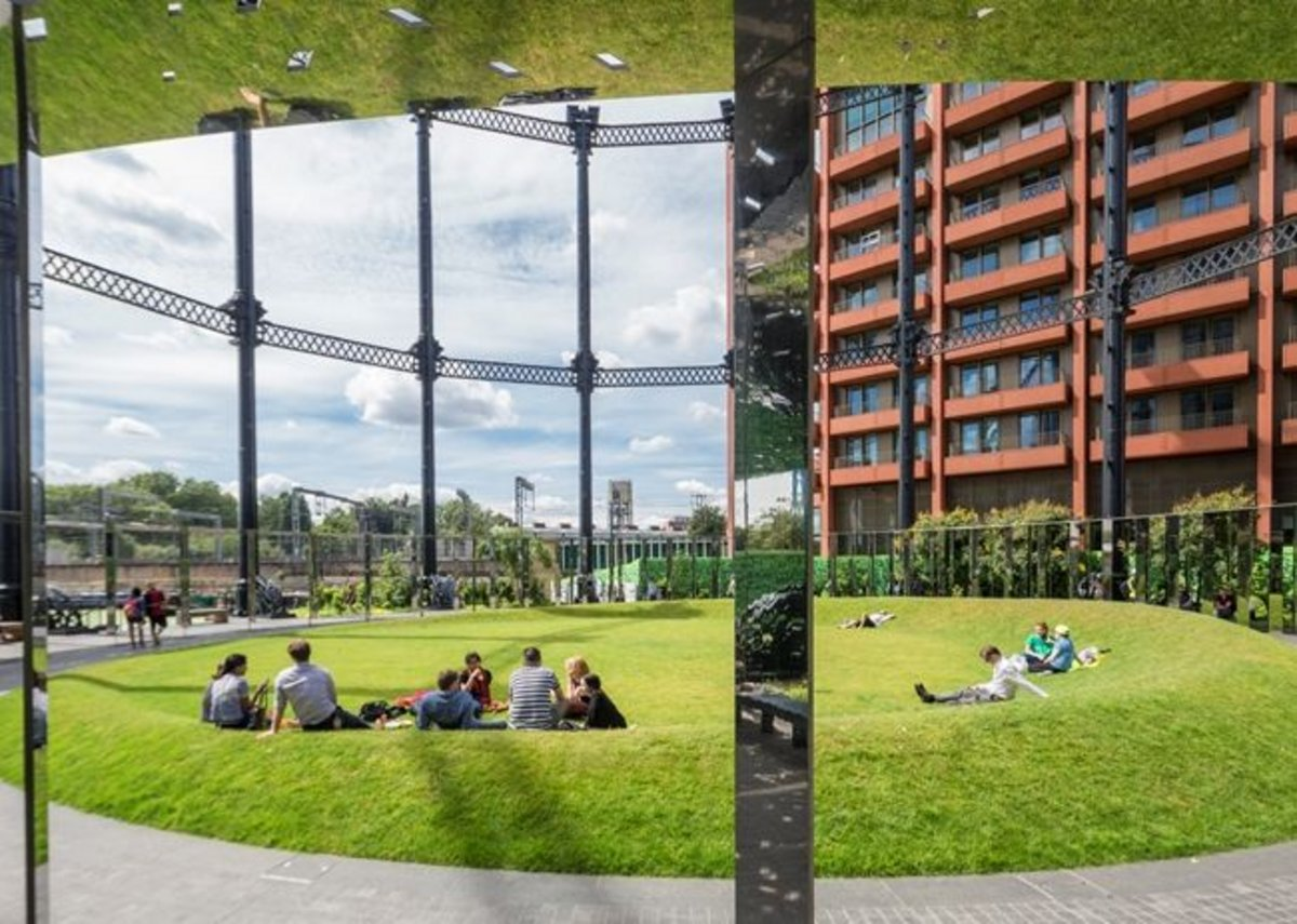 Gasholder Park, King's Cross.