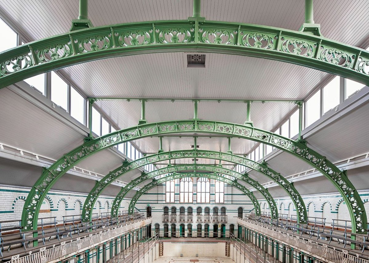 Gala Pool after roof restoration by Historic England and Birmingham City Council.