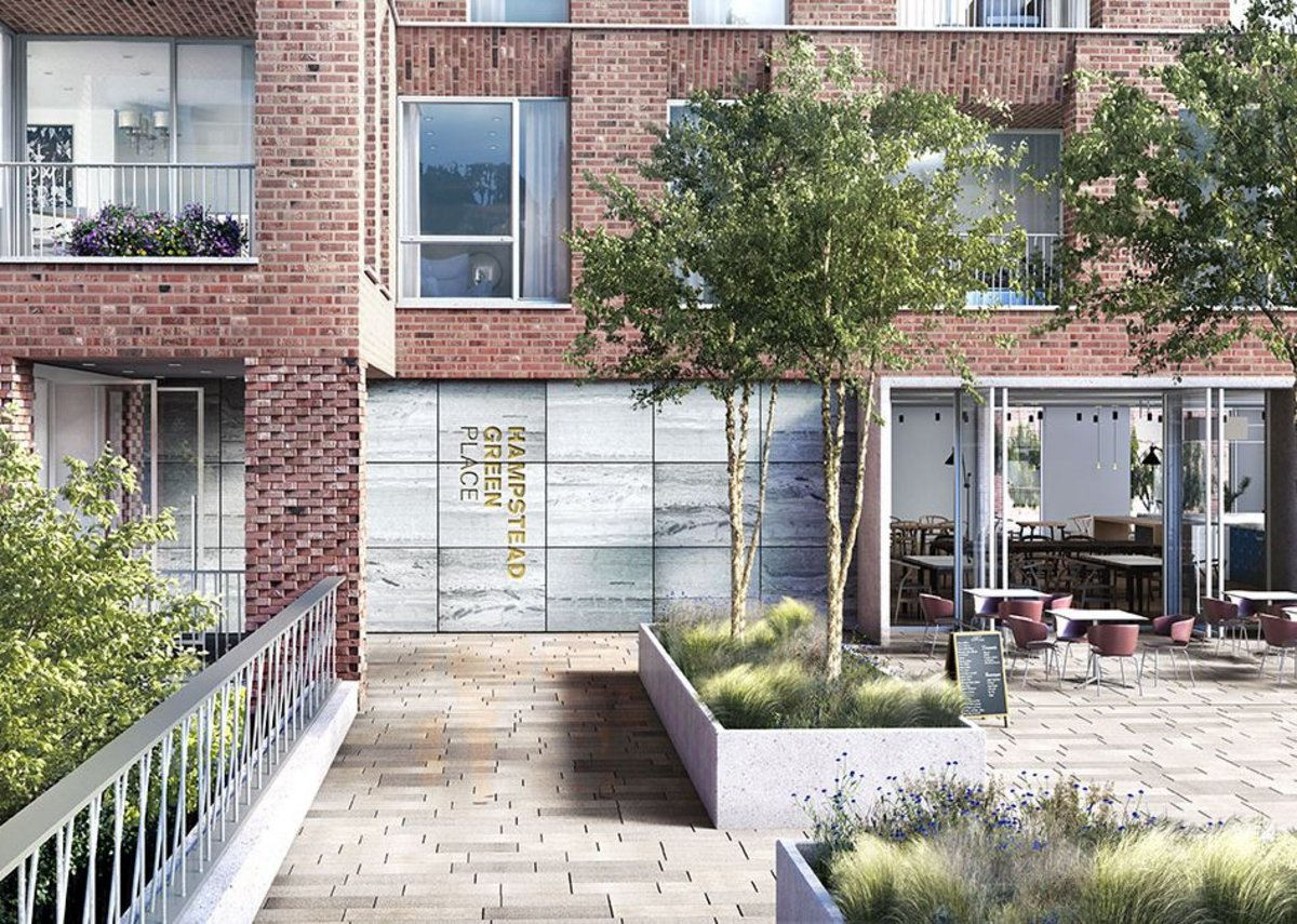 Hampstead Green Place will be surrounded by communal gardens at ground floor level.