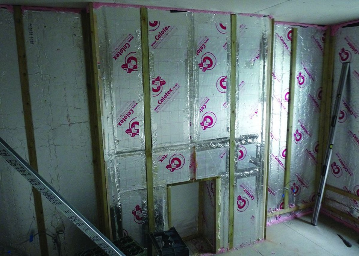 Internal wall insulation provides added thermal efficiency.