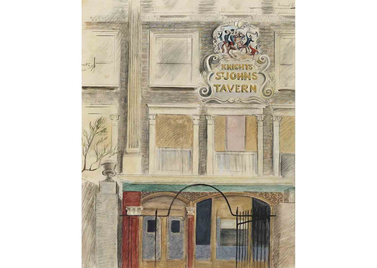 Enid Marx, The Knights of St Johns Tavern, Queen's Terrace, St John's Wood, London, c1940. Given by the Pilgrim Trust.