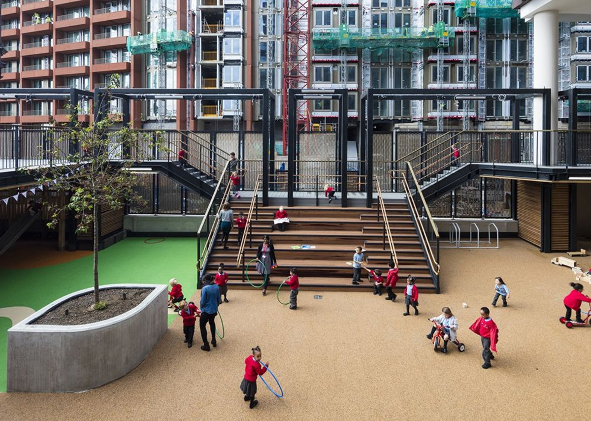 The playground and playdecks.