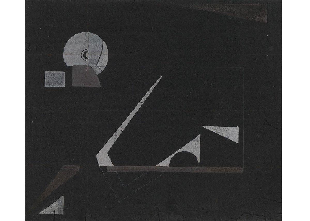 Eileen Gray, Black Magic, c.1930. Gouache and pencil on paper, 30 × 35 cm.