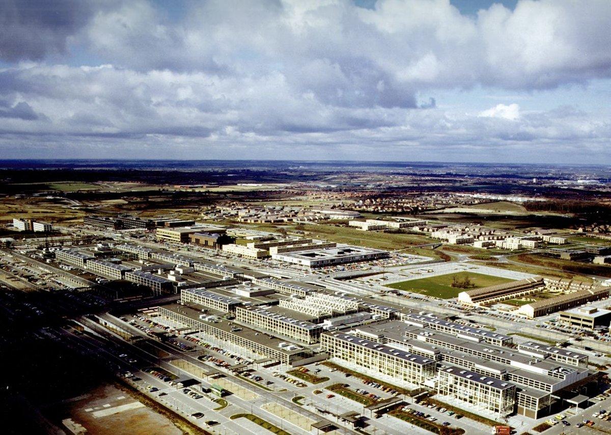 Central Milton Keynes in 1982.
