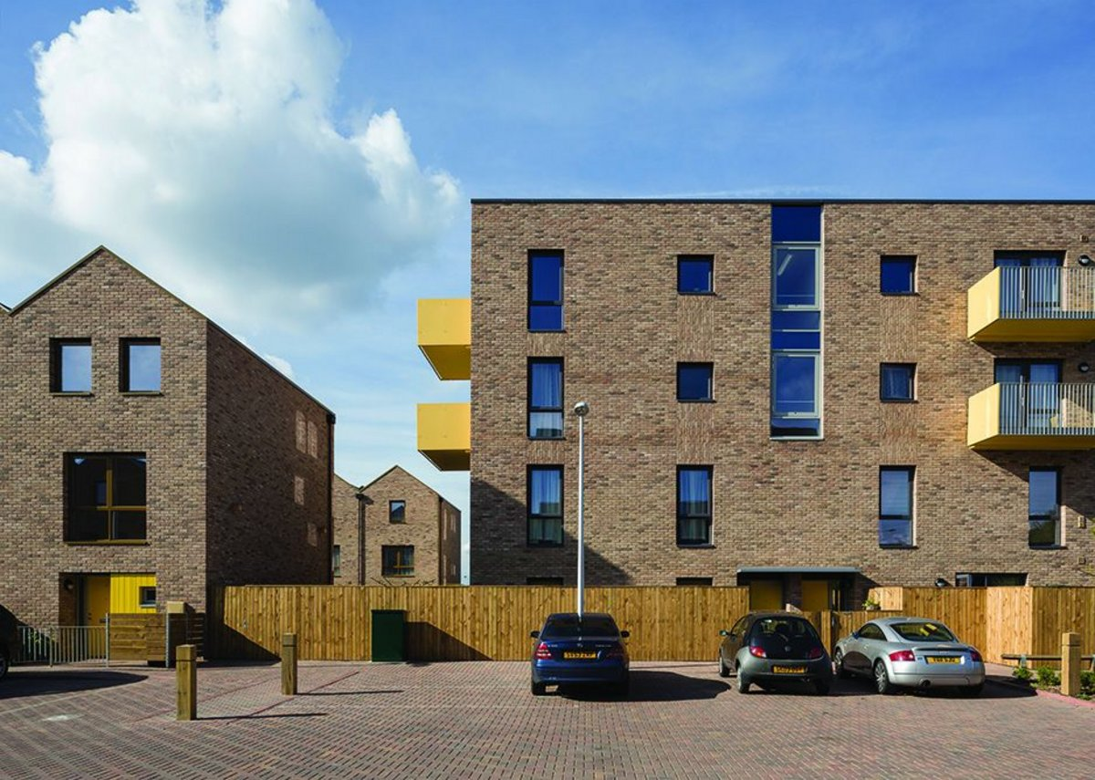 The general scale is low with brick detailing crisp and balconies and garages bringing a splash of colour to the development.