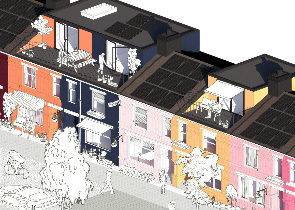 A Catalogue of Regeneration: Elements for the regeneration of homes to address issues of health, density, sustainability and the physical implications of the Covid-19 fallout in a phased, economical way to help the most vulnerable in society.