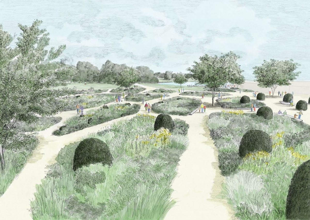 Masterplan: arrival entrance for RHS Garden Bridgewater.