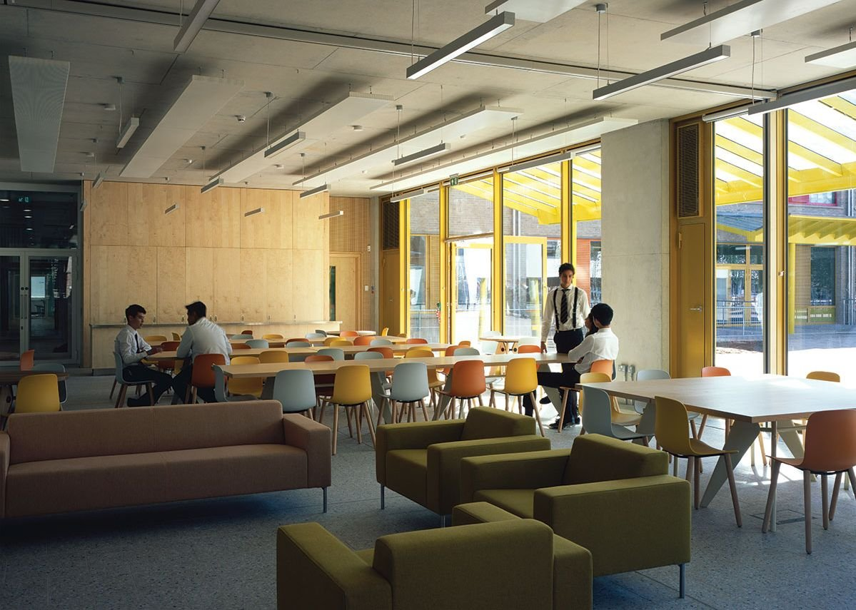 Café in the sixth form Global Study Centre.