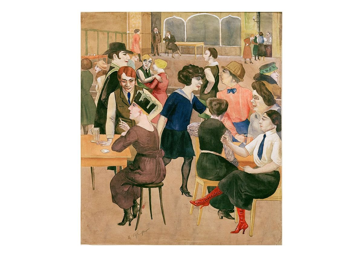 Rudolf Schlichter, Damenkneipe (Women's Club), c. 1925. Private collection. © Viola Roehr v. Alvensleben, Munich. Photo: akg-images