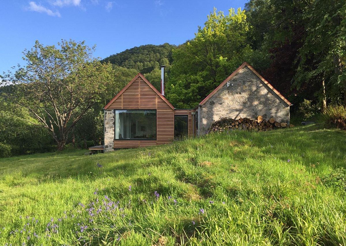 Fernaig Cottage, north elevation, Scampton and Barnett Architects.