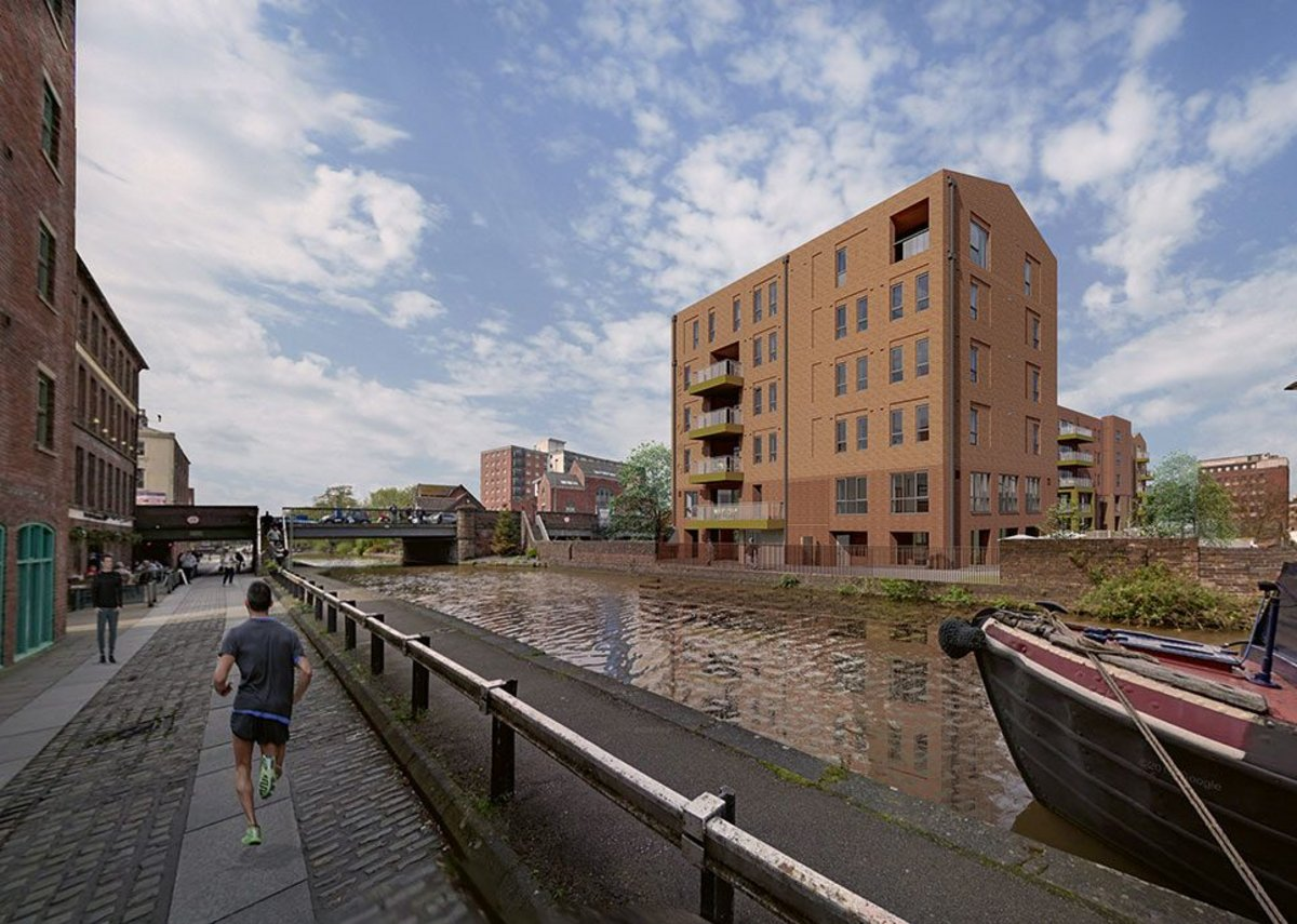 Pozzoni's £15.7million canalside living proposal for older people in Chester, under construction for assisted living operator Belong.
