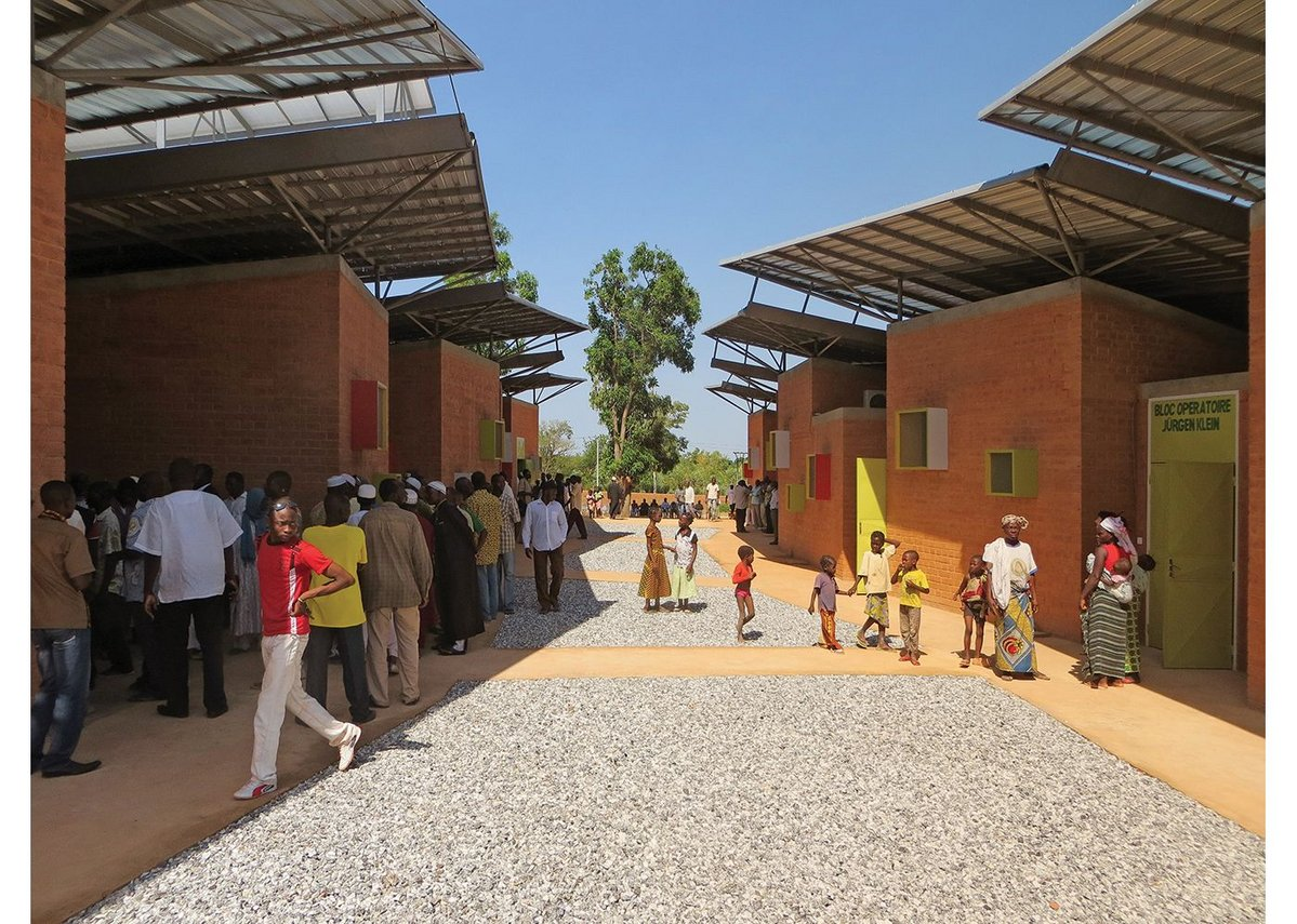 The 1900 square-metre Léo Surgical Clinic & Health Centre in Burkina Faso completed in 2014.