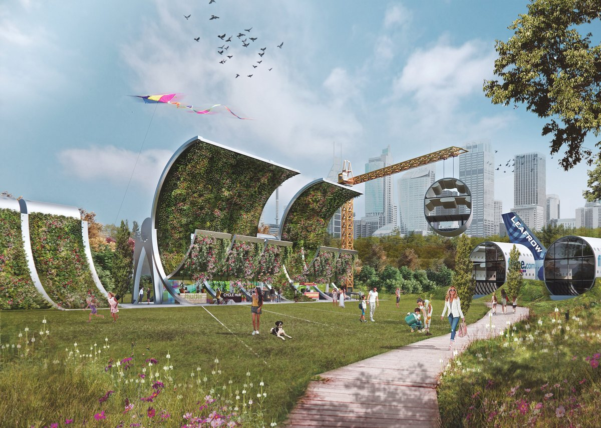 Leafrow: Covid-19 or not 2025 will present a different world: environmental preservation will be key with lifestyles changing accordingly. Redundant planes could be made in all sorts of community spaces, re-energising green spaces  but with targeted recycling  that makes this 'plane' sailing.