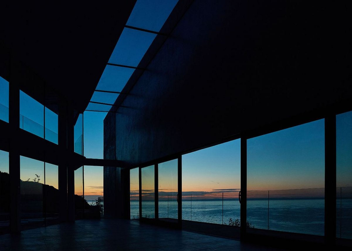 Aiming towards the sunset. Stealth House, Devon by Guy Greenfield Architects.