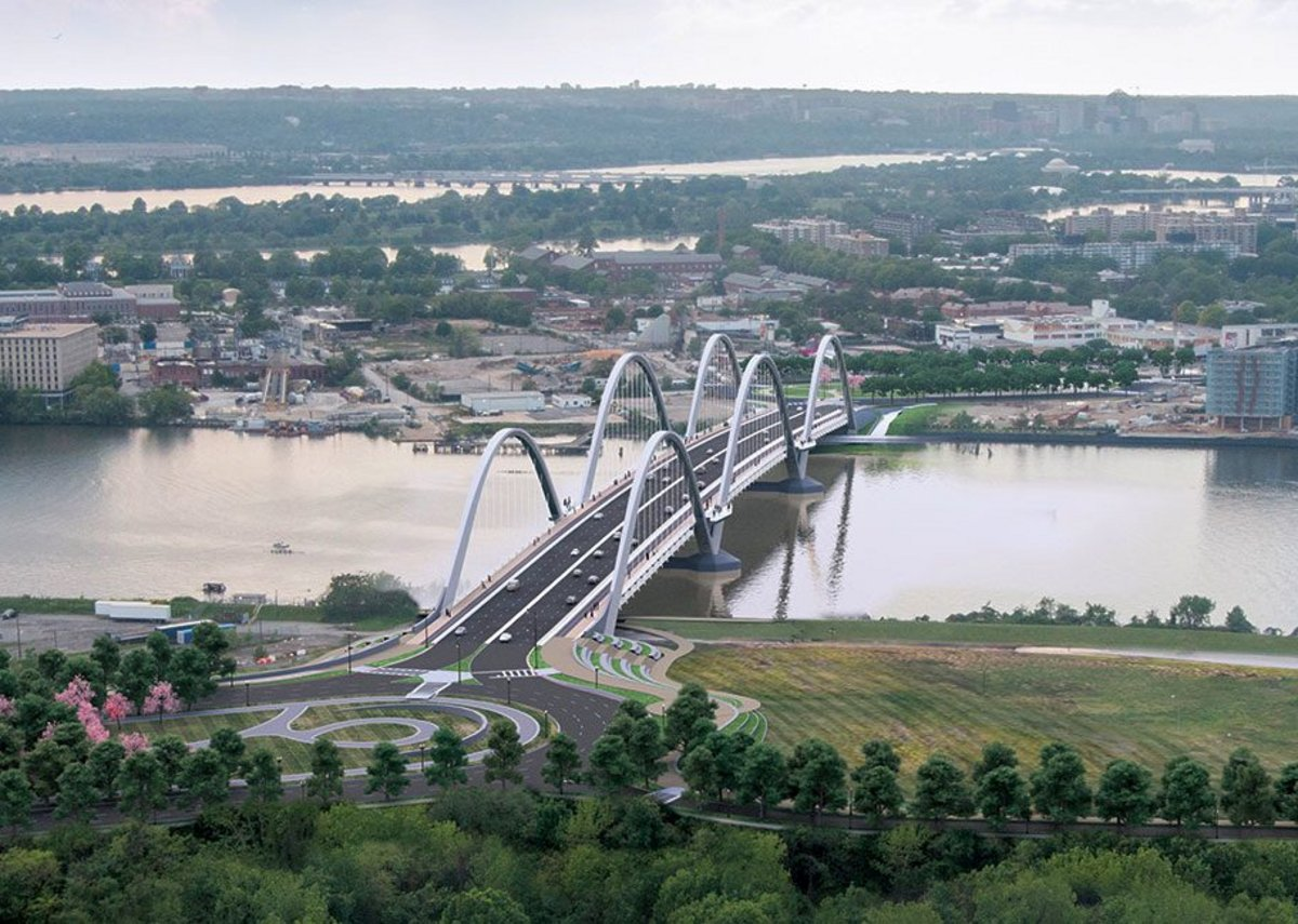The Frederick Douglass bridge is due to complete in 2021.