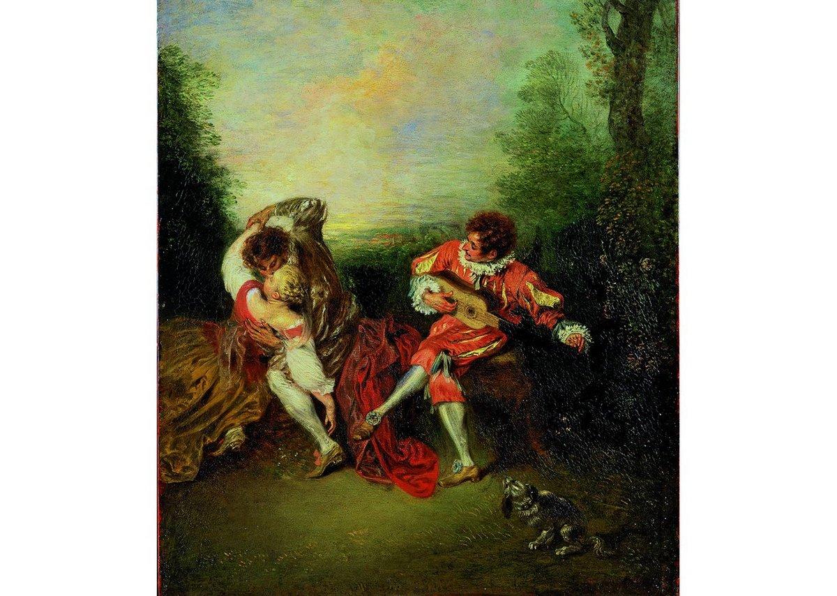 Jean-Antoine Watteau, La Surprise, 1718-19.