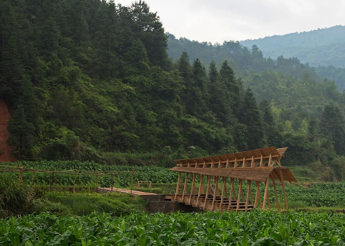 The Wind and Rain Bridge was the first of the hands-on projects in Peitian.