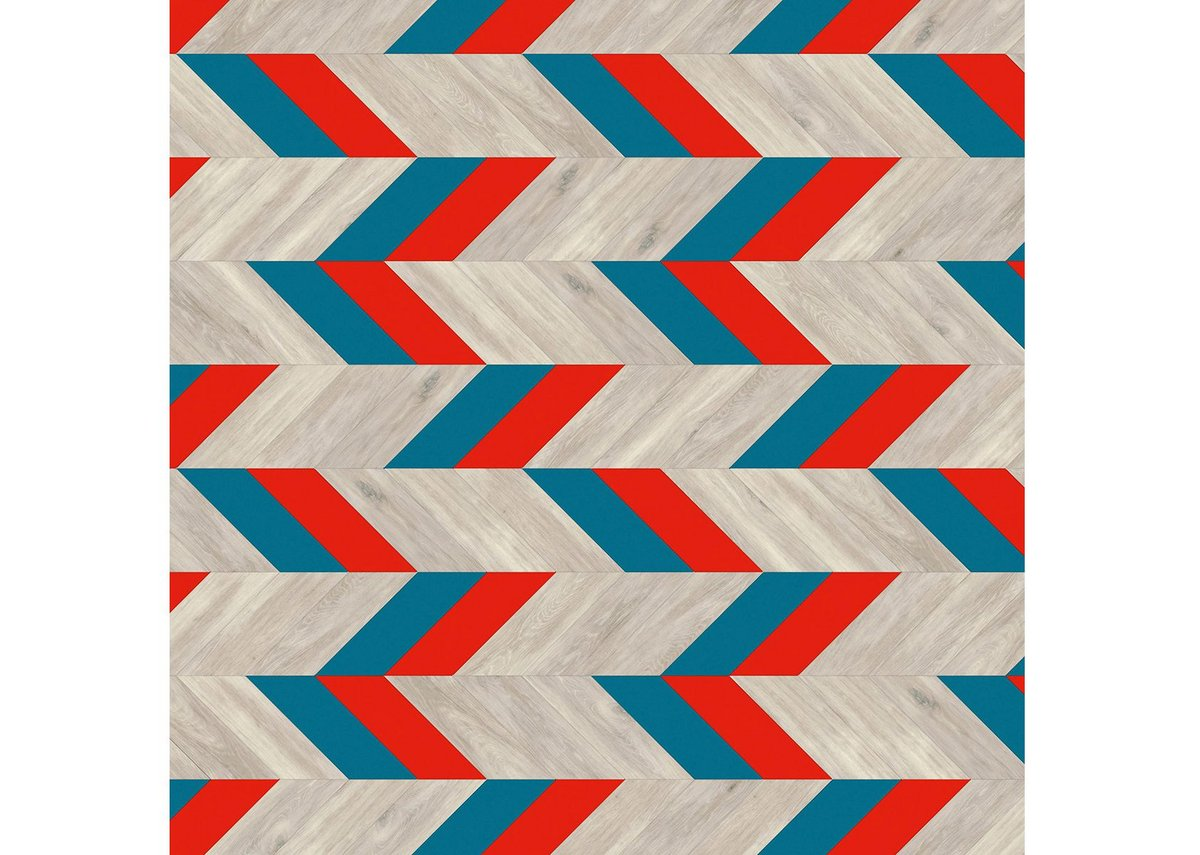 Ashton Court: Pleat laying pattern, with Rio, Helsinki and White Wash Wood.