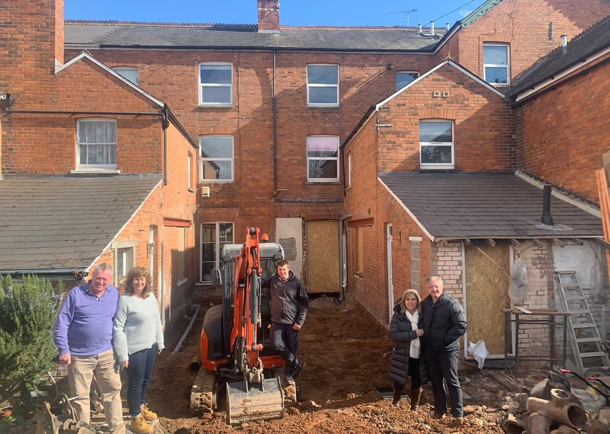 Dandelion Seeds Architects' designs for neighbouring extensions are now going on site in Taunton.