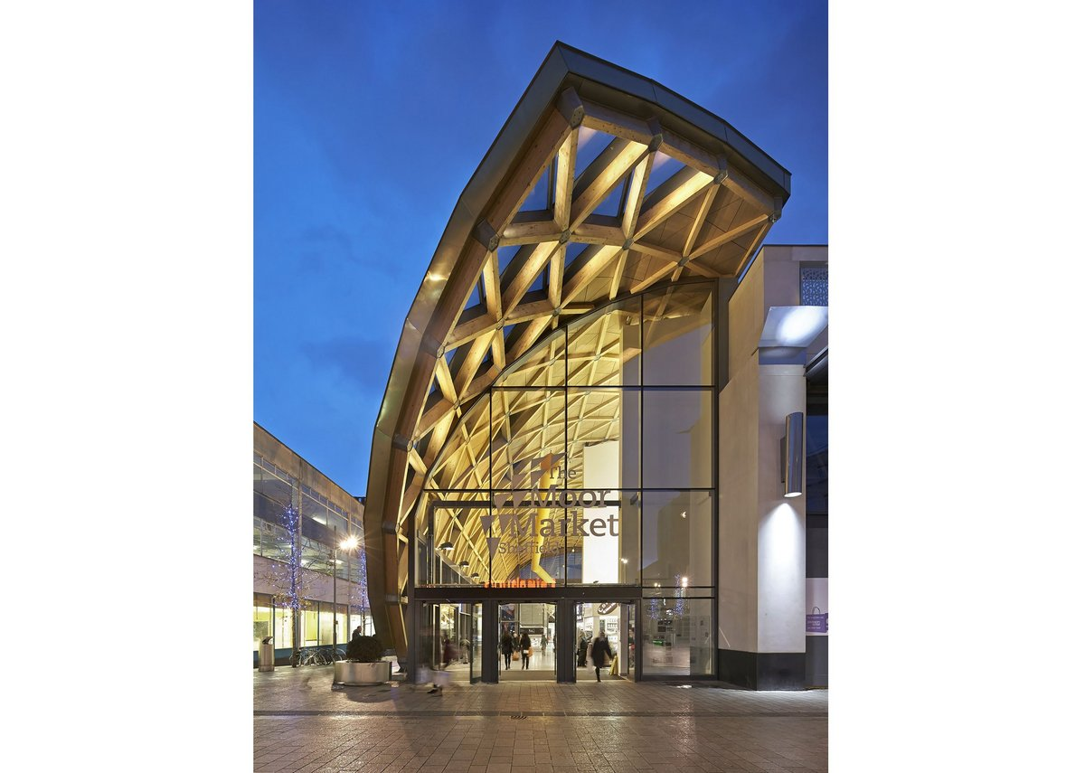 The Moor Market, Sheffield, by Leslie Jones Architecture and B&K Structures.