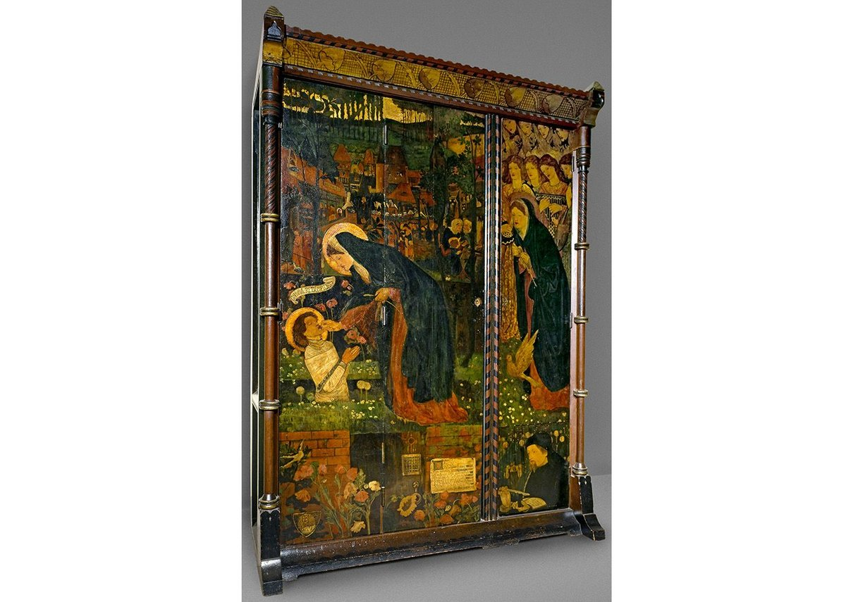 'Prioress's Tale' wardrobe by Edward Burne Jones