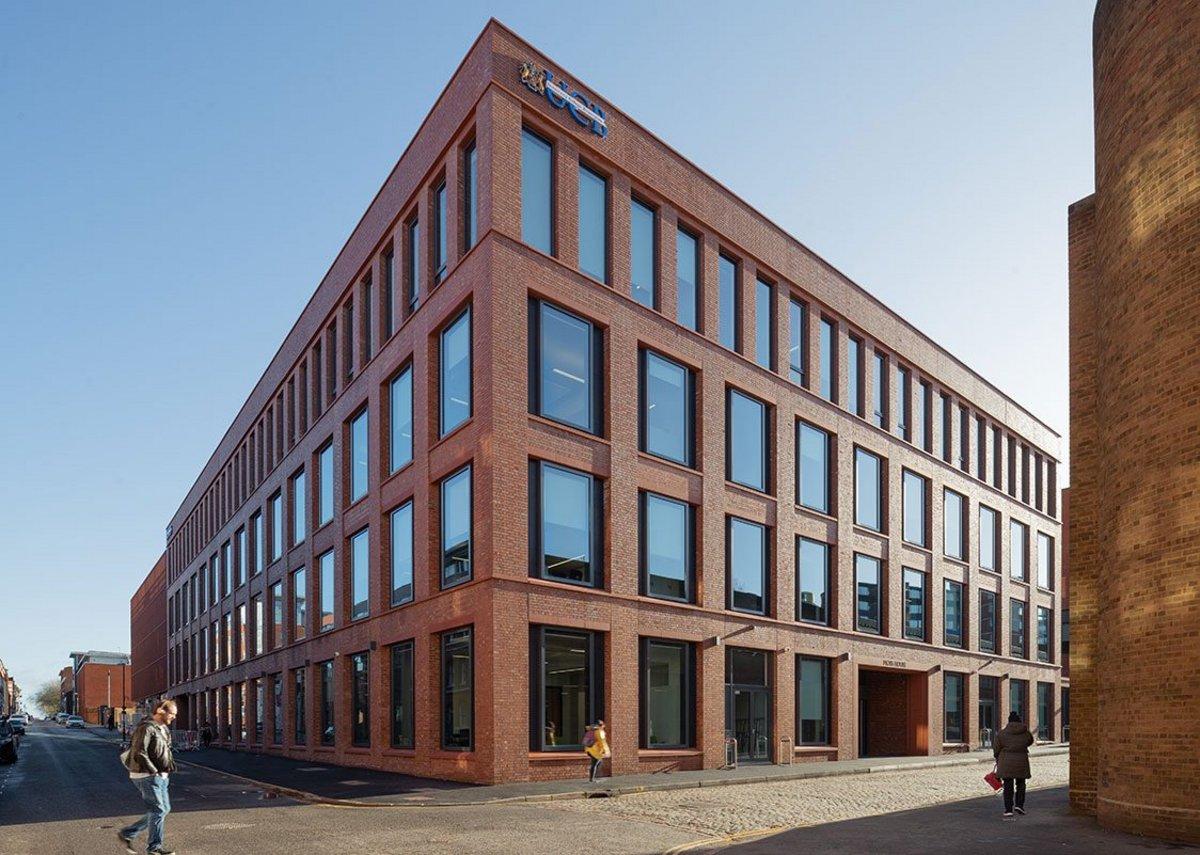 Local industrial buildings inspired the elegant, simple fenestration.