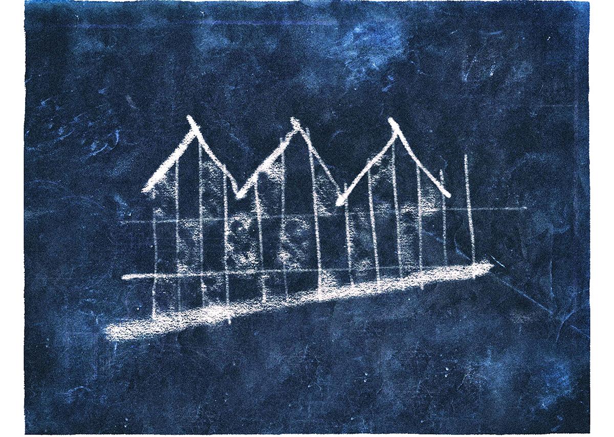Cyanotype concept drawing of 22 Handyside Street. ©Coffey Architects