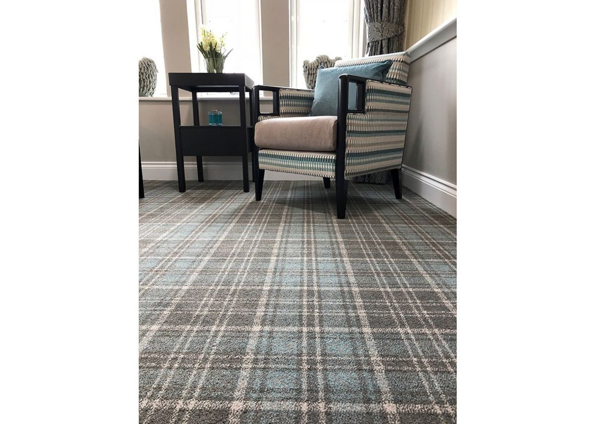 Origin 561 at MHA Montpellier Manor: the tradition and character of plaid in pleasing modern shades.