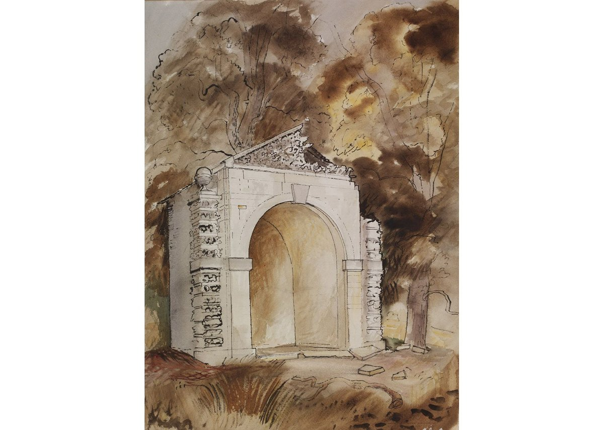 John Piper, The Duck House in the Park of Buckland House near Faringdon, Berkshire, c 1940. Given by the Pilgrim Trust.
