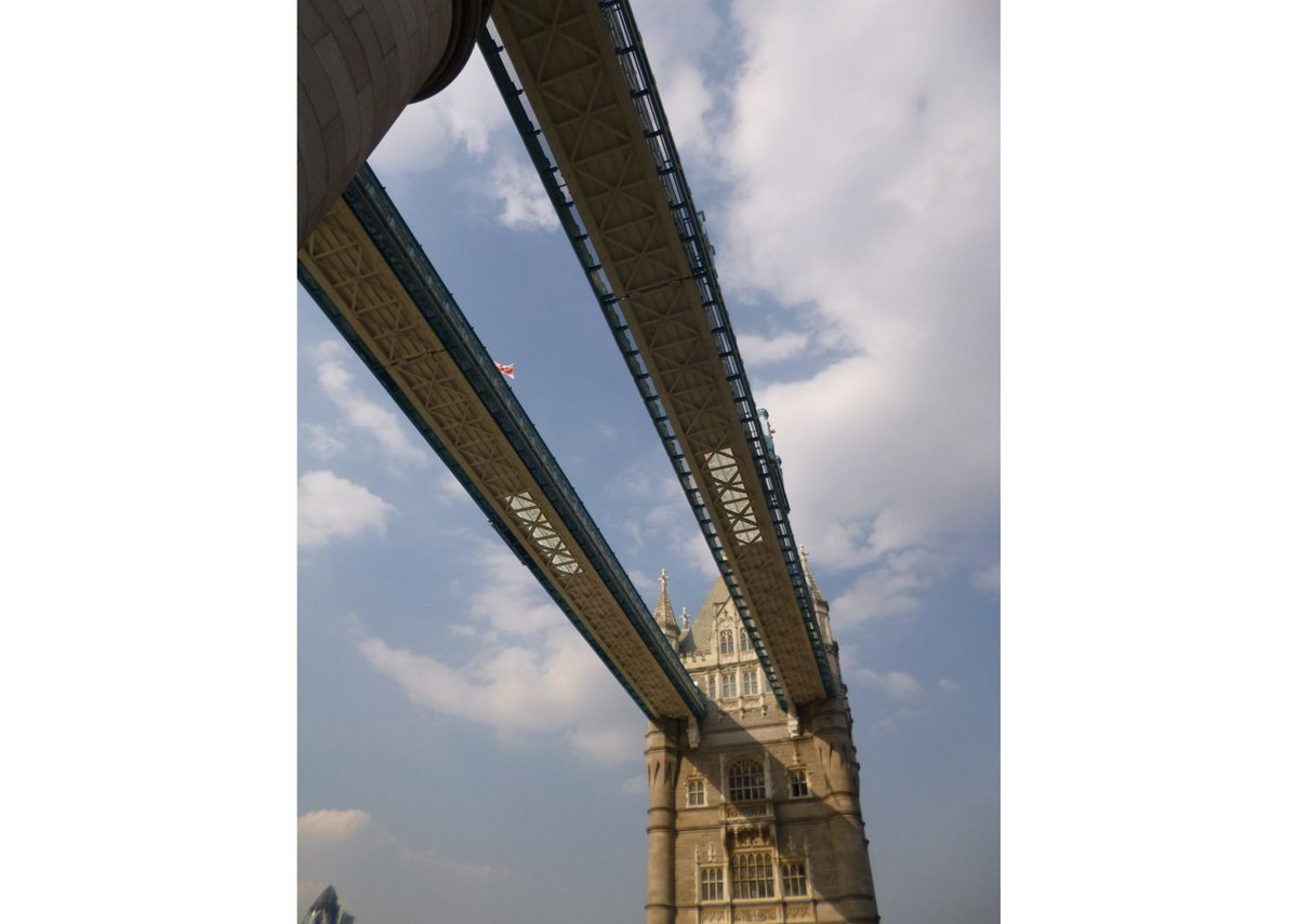 Visualisation of the Tower Bridge walkways from below.