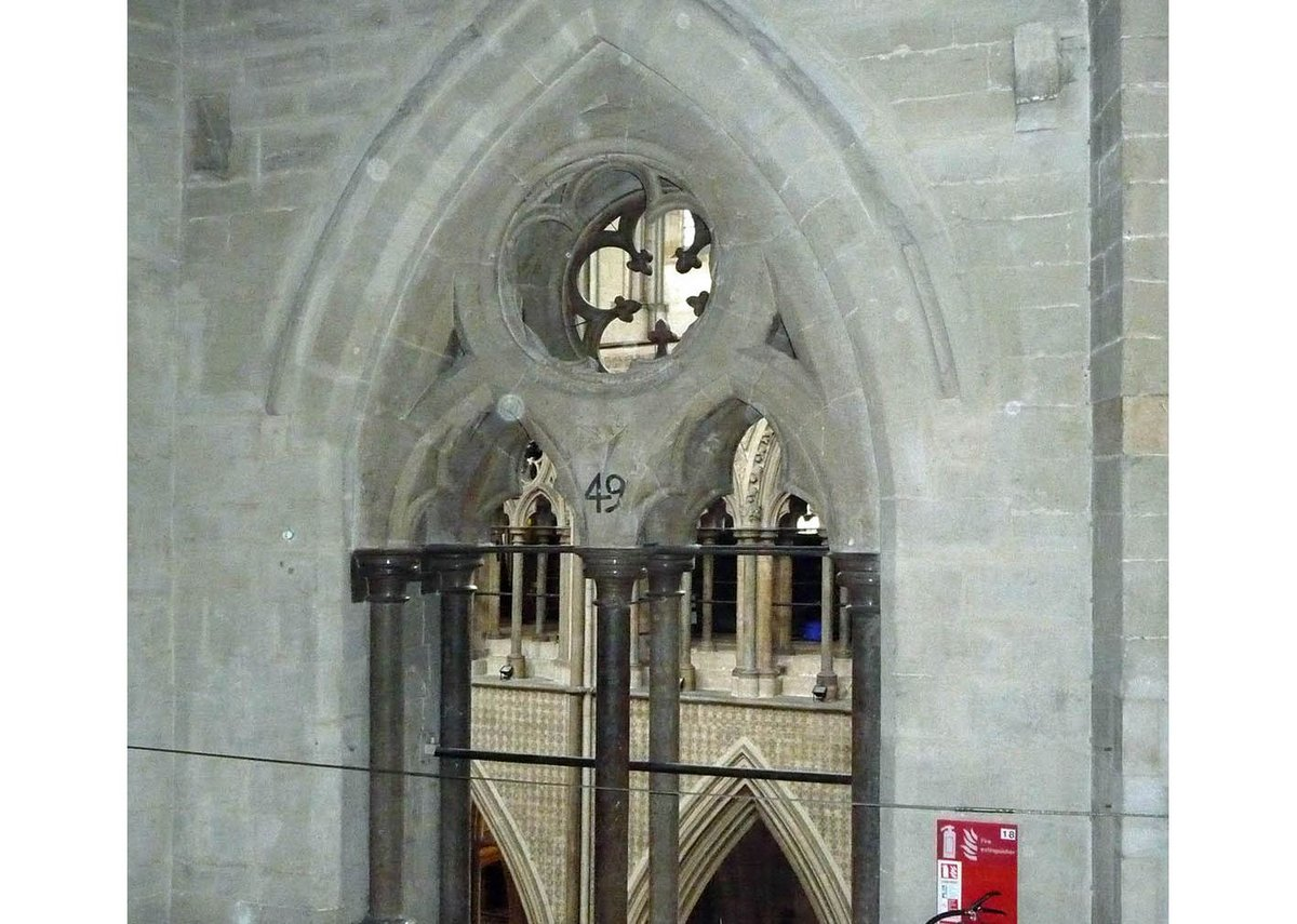 The inward-facing arches, each numbered by Wren.