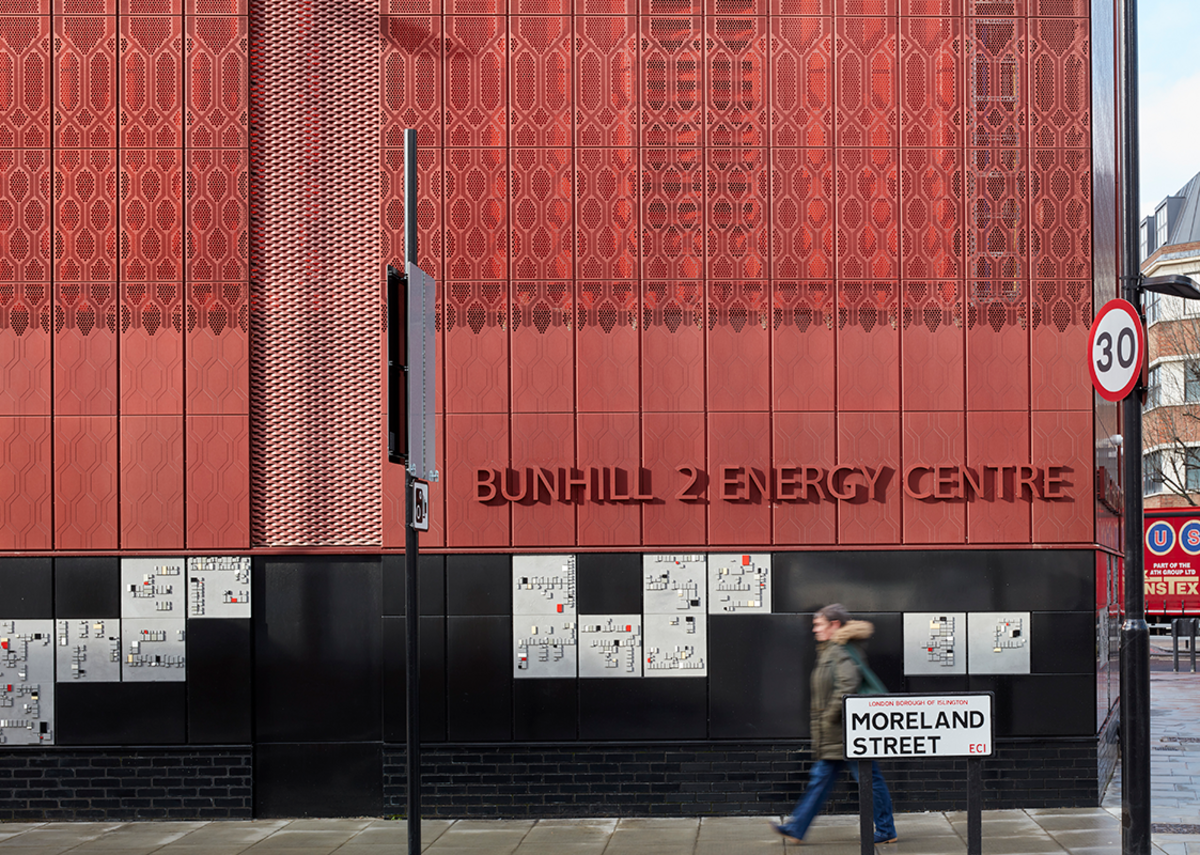 Cullinan Studio with McGurk Architects earn a MacEwen Award commendation for Bunhill 2 Energy Centre, Islington.
