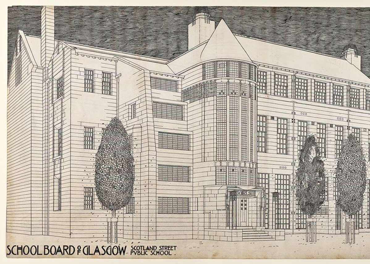 Charles Rennie Mackintosh, Scotland Street School, Glasgow: perspective drawing, 1904 © The Hunterian, University of Glasgow 2014.