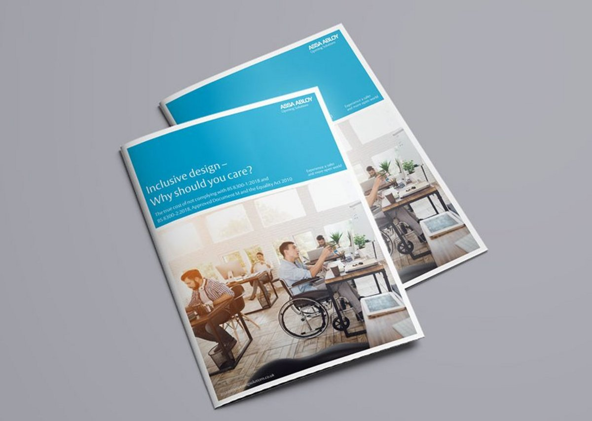 'The paper offers architects an overview of why inclusive design is so important, the guidelines that govern it and what they need to think about when specifying a door-opening solution,' says Eryl Jones, managing director of the ASSA ABLOY Door Hardware Group.