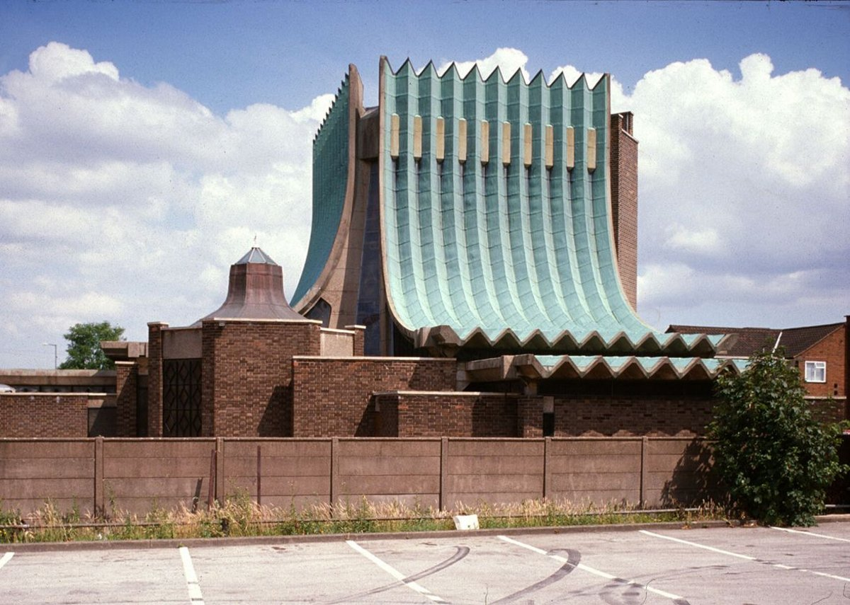 Scott's church at Birmingham Tile-Cross-Our Lady Help of Christians, 1966-67.