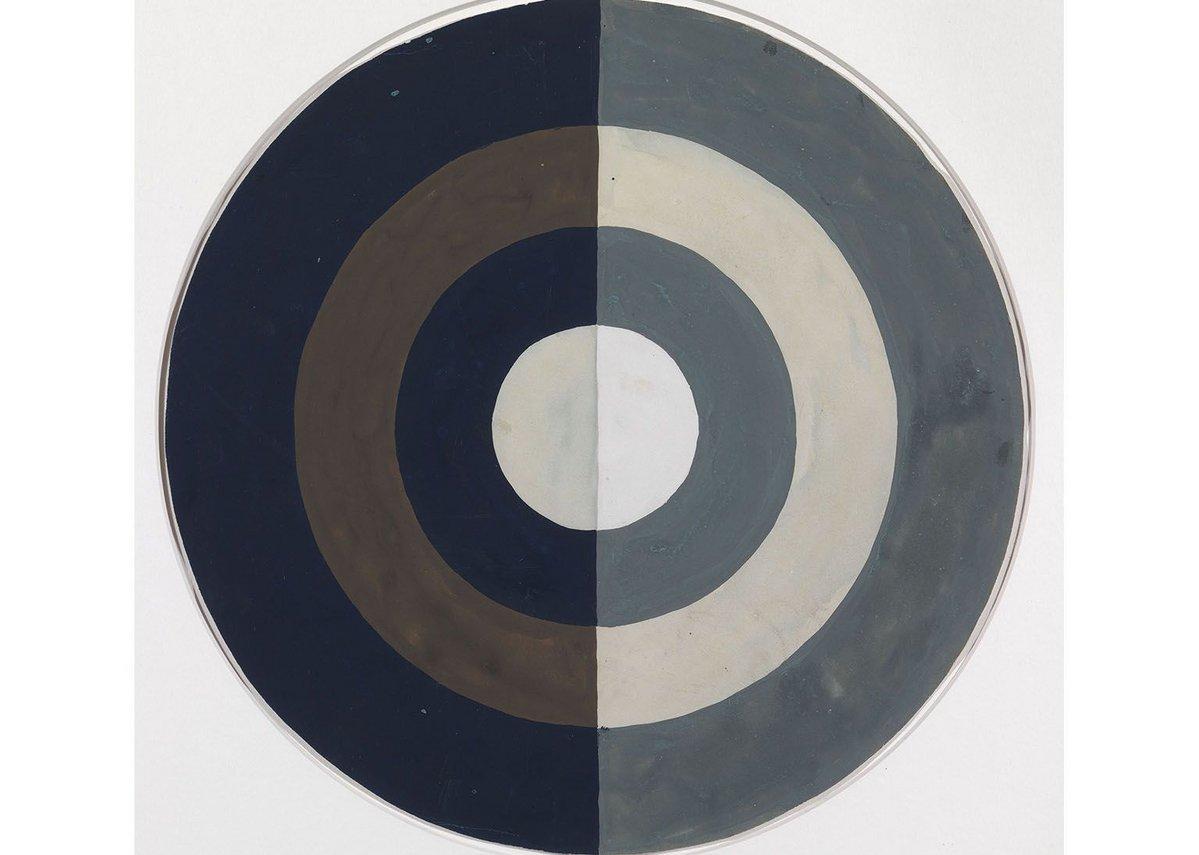 Eileen Gray L'Art Noir (Study for Rug), 1920s. Gouache on paper, 27.2 × 27.2 cm.